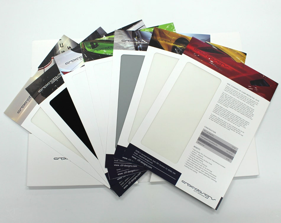 Paint Protection Film Sample Fold Pamphlet